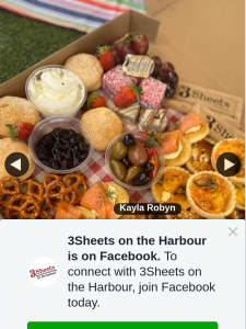 3Sheets on the Harbour – Win We Suggest That You Pre Order Via Phone (9243 5742 Fter 4pm Wednesday to Saturday 12pm) $49 Each ( Brekky Box Available for 2 People for $27)