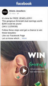 Shiels Jewellers – These Beauties (prize valued at $299)