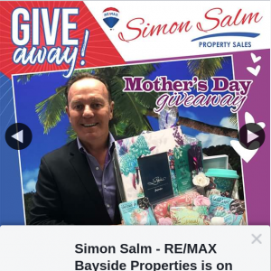 Simon Salm Re-Max Bayside Properties – Win a Mothers Day Basket Full of Goodies From Lisa Pollocks's New Aztec Range From News Extra Alexandra Hills