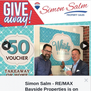 Simon Salm Re-Max Bayside Properties – Win a $50 Whisky Business Gift Voucher