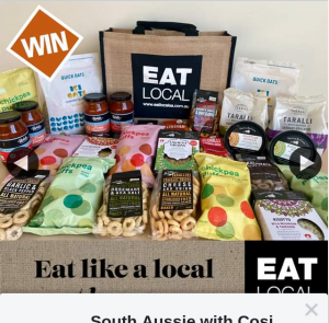 "South Aussie With Cosi – Win an Epic ""eat Local"" Sa Goodies Hamper?"