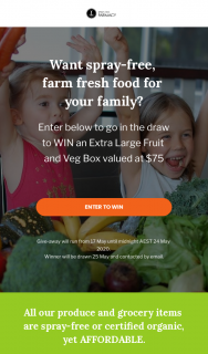 Spray-Free Farmacy – Win a Week's Worth of Fruit & Veg (prize valued at $75)