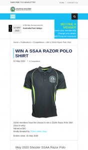 SSAA – Win a Ssaa Razor Polo Shirt (prize valued at $42)