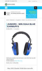 SSAA – Win Ssaa Blue Earmuffs (prize valued at $59.95)
