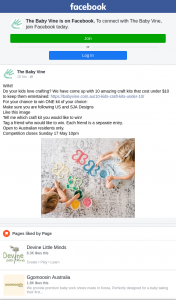 The Baby Vine – Win One Kit of Your Choice