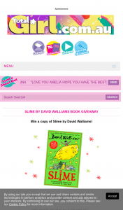 Total Girl – Win a Copy of Slime By David Walliams (prize valued at $500)