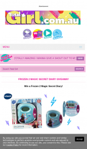 Total Girl – Win a Frozen 2 Magic Secret Diary (prize valued at $540)