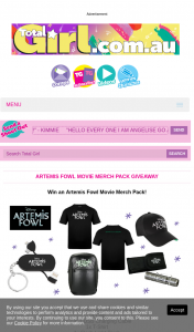 Total Girl – Win an Artemis Fowl Movie Merch Pack (prize valued at $1,038)