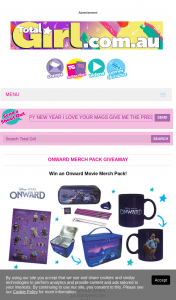 Total Girl – Win an Onward Movie Merch Pack (prize valued at $1,674)