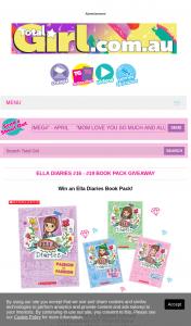 Total Girl – Win 1/17 Ella Diaries Book Packs 5pm (prize valued at $1,019)