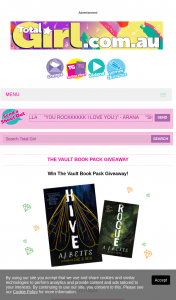 Total Girl – Win The Vault Book Pack Giveaway (prize valued at $510)