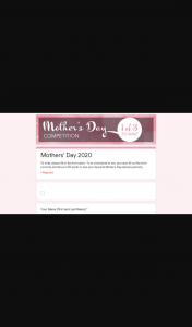 Video Ezy – Win You Must Fill Out The Form Correctly and Tell Us In 50 Words Or Less Your Favourite Mother's Day Memory and Why