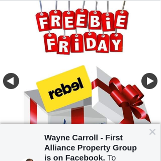 Wayne Carroll First Alliance Property Group – Win a $50 Rebel Sport Gift Card (prize valued at $50)