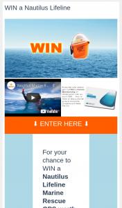 Wildiaries – Win a Nautilus Lifeline Marine Rescue Gps Worth $339 (prize valued at $339)