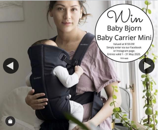 Win a Baby Bjorn Baby Carrier Mini Valued at $159.99. (prize valued at $159.99)