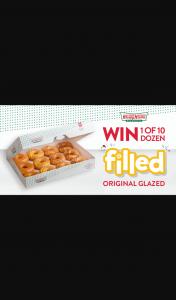 Win a Dozen Filled Og Doughnuts