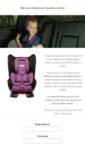 Win an Infasecure Quattro Astra In Purple