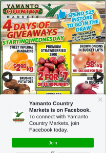 Yamanto Country Markets – Win 4 Days of 4 Prizes