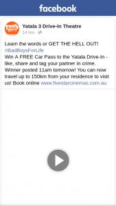 Yatala 3 Drive-in theatre – Win a Free Car Pass to The Yatala Drive-In
