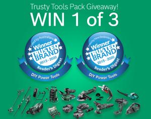 Bosch DIY Australia & New Zealand – Win 1 of 3 Bosch DIY Trusty Tools prize packs