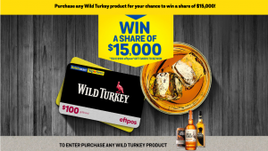 Bottlemart – Wild Turkey – Win 1 of 150 gift cards valued at $100 each