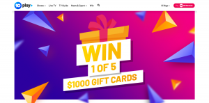 Ten Play – Gift Card Frenzy – Win 1 of 5 gift cards valued at $1,000 each