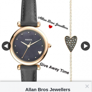 Allan Bros Jewellers Ballarat – Win Fossil Watch & Bracelet Gift Set
