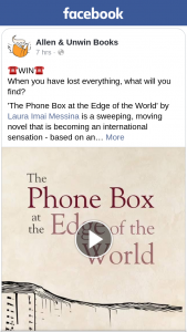 Allen & Unwin Books – Win 1/18 Copies of The Phone Box at The Edge of The World Postcards