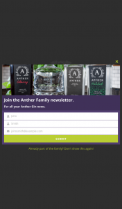 Anther Spirits – Win a Year's Supply of G&t