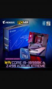 AORUS – Win a Brand New Intel I9 10900k Cpu and Aorus Z490 Xtreme Motherboard