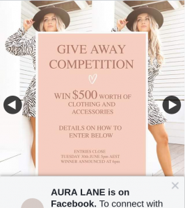 Aura Lane – Win $500 Worth of Clothing and Accessories 