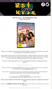 Aussie Comedy Kingdom – Win a Copy of The Much Loved British Series The Darling Buds of May on DVD (prize valued at $70)