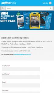 Australian Made – Sutton Tools – Win an Australian Made Prize Pack