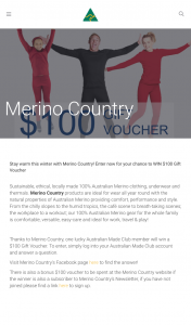 Australian Made – Win $100 Gift Voucher (prize valued at $100)