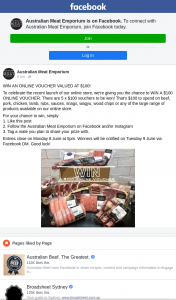 Australian Meat Emporium – Win an Online Voucher Valued at $100 (prize valued at $100)