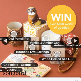 BIRDS of PREY GIVEAWAY – Win Songbird Collection (prize valued at $311)