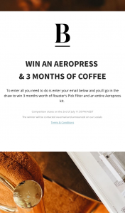 Blackboard Coffee – Win an Aeropress & 3 Months of Coffee