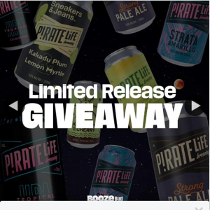 Boozebud – Win 16 Cans of Limited Edition Pirate Life Brews (in this Image)‼️ With a Few Simple Steps..