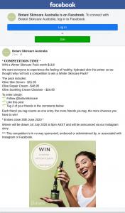 Botani Skincare Australia – Win a Winter Skincare Pack Worth $110 (prize valued at $110)