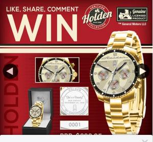 Bradford Exchange Australia – Win Our Exclusive Deluxe Holden Men's Watch