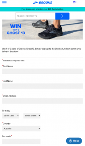Brooks Running – Win 1 of 5 Pairs of Brooks Ghost 13. (prize valued at $220)