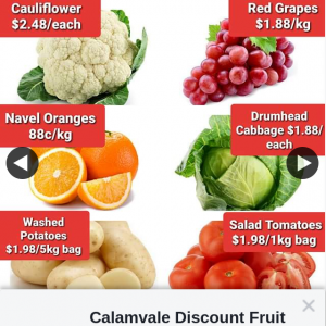 Calamvale Discount Fruit Barn – Win a $60 Voucher (prize valued at $60)