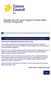 Cancer Council SA – Win a $100 Voucher