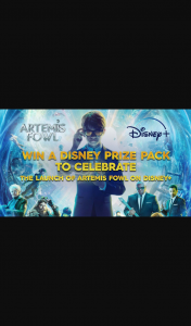 Channel 9 – Today Show – Win a Disney Prize Pack to Celebrate The Launch of Artemis Fowl on Disney