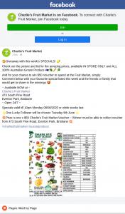 Charlie's Fruit Market Everton Park – Win $50 Voucher to Spend at The Fruit Market
