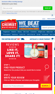 Chemist Warehouse – Win Cash Monthly (prize valued at $9,000)