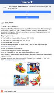Child Blogger – Win a Vtech Prize Pack