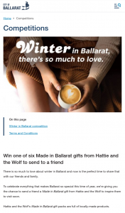 City of Ballarat – Win a Friend One of Six Made In Ballarat Gifts From Hattie and The Wolf