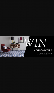 Designer Rugswin a room refresh – Win a Designer Rugs X Greg Natale Rooms Refresh Terms and Conditions (prize valued at $3,700)
