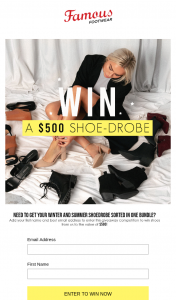 Famous Footwear – Win a $500 Voucher (prize valued at $500)